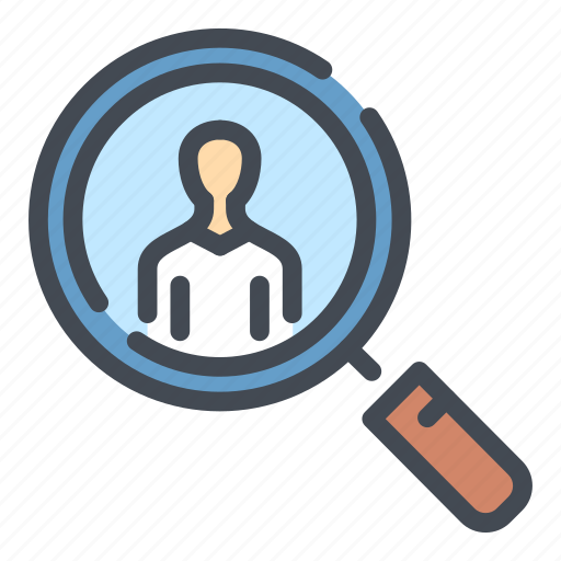 business, employee, find, person, search, work, worker icon