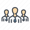 business, friends, group, management, people, staff, team icon