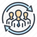 business, change, people, replace, staff, team, update icon