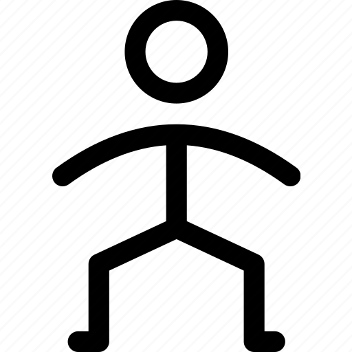 duck, exercise, knees, person, sport, squat icon