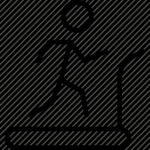 fitness, jog, run, sports, treadmill, wheel icon
