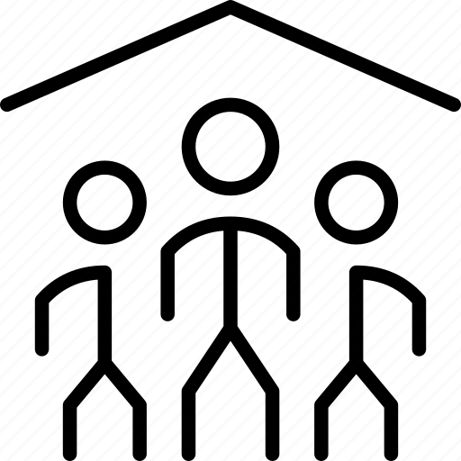 club, crowd, house, people, safehouse, venue icon
