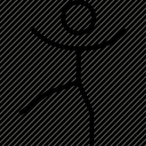 ballance, gymnastics, leg, person, position, stadnd icon