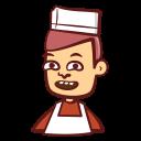 cook, apron, avatar, chef, male icon