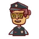 avatar, hand drawn, law, law enforcement, person, police, woman icon