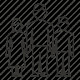 boy, daughter, family, father, girl, man, son icon
