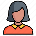 woman, avatar, female, girl, lady, person, profile icon
