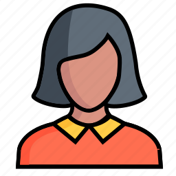 avatar, female, girl, lady, person, profile, woman icon
