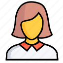 woman, female, girl, human, lady, person, profile icon