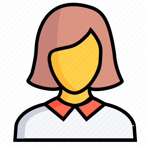 female, girl, human, lady, person, profile, woman icon
