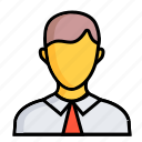 men, account, avatar, business, chart, marketing, people icon