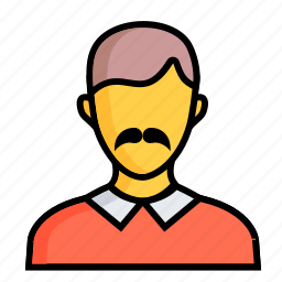 avatar, emotion, face, human, men, mustache, profile icon