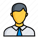 men, business, finance, man, marketing, office, worker icon