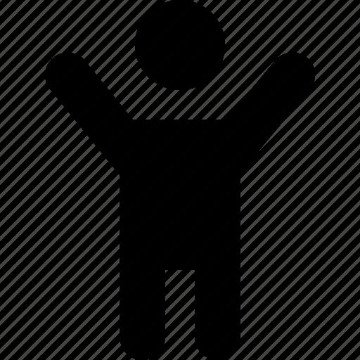 person, raisedarms icon