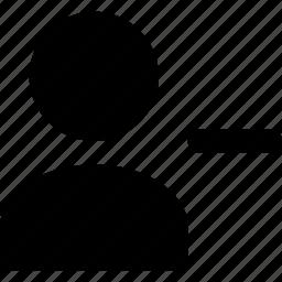 minus, user icon