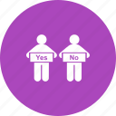 businessman, comparison, decision, evaluation, making, person icon