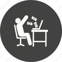 business, computer, earn, man, money, revenue, technology icon