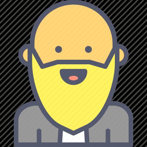 bald, bearded, muslim, old, rabi icon