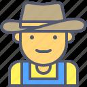cowboy, farmer, hat, horseman, western