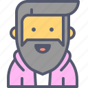 bearded, character, hairstyle, hipster icon