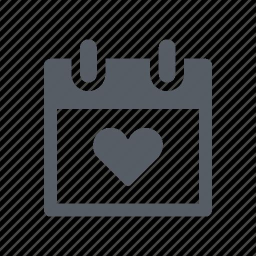 calendar, celebration, date, love, valentine, wedding icon