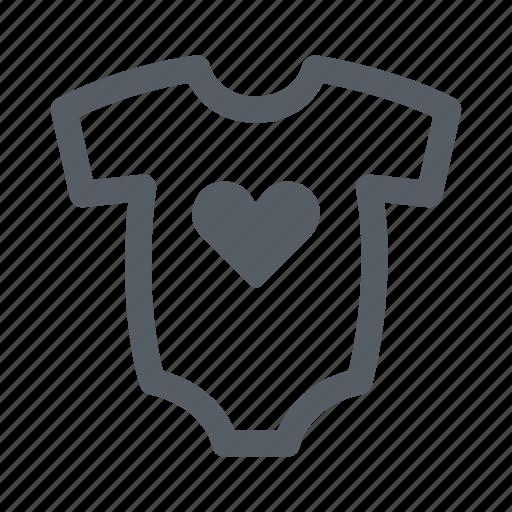 baby, child, clothing, heart, onesie icon