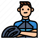 avatar, bicycle, cycling, man icon