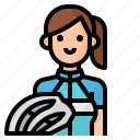 woman, bicycle, avatar, cycling