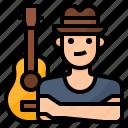 avatar, guitar, hobby, lifestyle icon