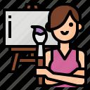 avatar, lifestyle, painting, woman
