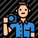 avatar, lifestyle, man, photography icon