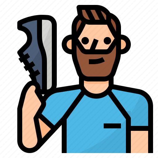 avatar, lifestyle, man, running icon