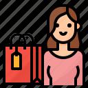 avatar, lifestyle, shopping, woman icon