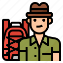 avatar, lifestyle, man, traveling icon