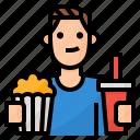 avatar, lifestyle, movies, watching icon