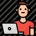 avatar, lifestyle, man, working
