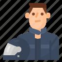 avatar, biker, man, motorcycle icon