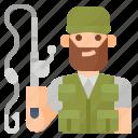 avatar, fisherman, fishing, hobby