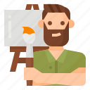 avatar, lifestyle, man, painting icon