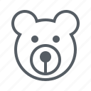 baby, bear, child, teddy icon