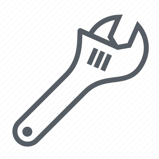 adjustable, equipment, repair, tool, work, wrench icon