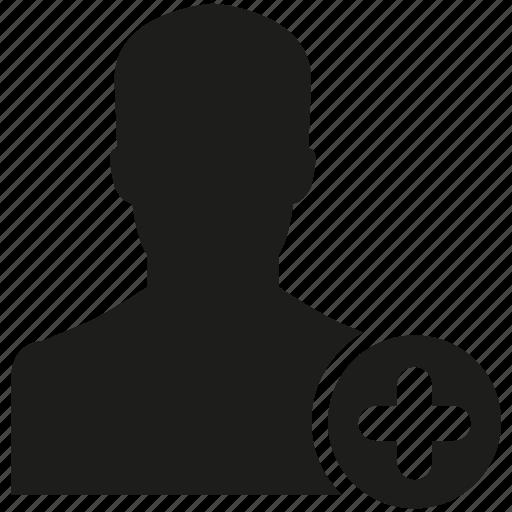 add, friend, human, man, people icon