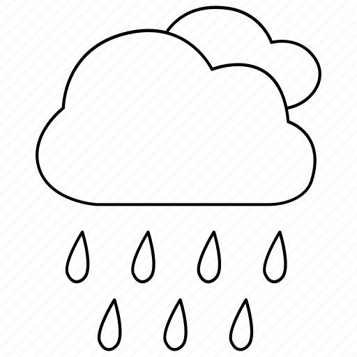 drizzle, precipitation, rain, rainstorm, rainy, shower, weather icon