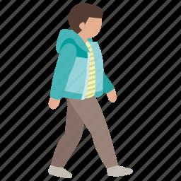 boy, man, stroll, teen, teenager, walking icon