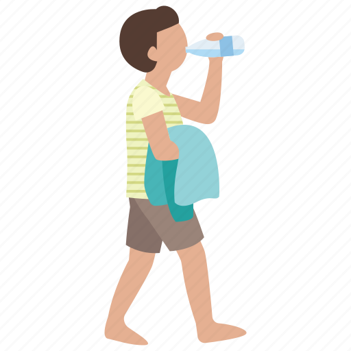 beach, boy, drink, pool, teen, teenager, towel icon