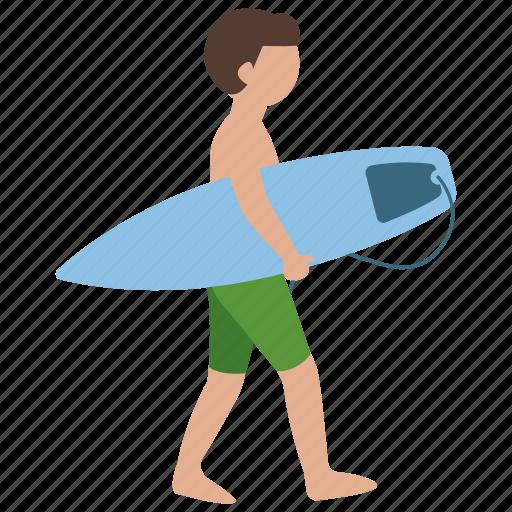 beach, boy, summer, surfer, surfing, teen, teenager icon