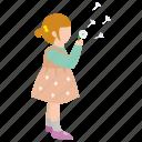 blow, child, dandelion, daughter, girl, innocence, wish icon