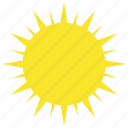 clear, hot, summer, sun, sunny, warm, weather icon