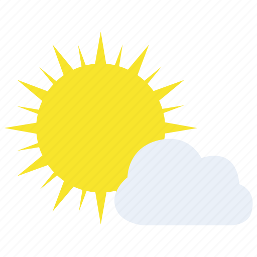 clouds, cloudy, overcast, sun, sunny, weather icon