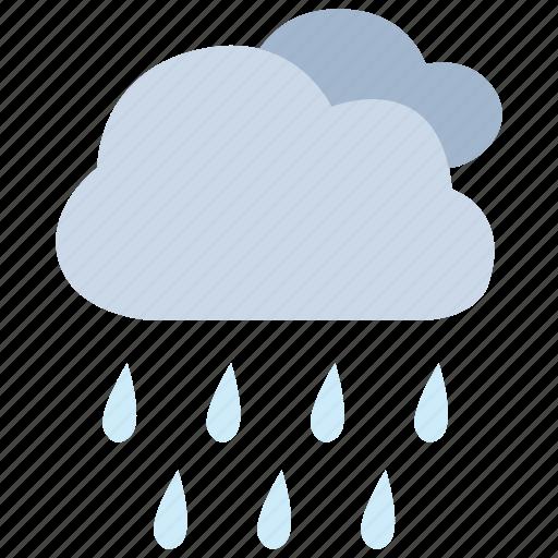 drizzle, precipitation, rain, rainstorm, shower, weather icon